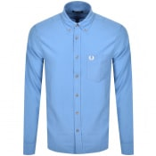 Product Image for Fred Perry Overdyed Long Sleeve Shirt Blue