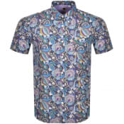 Product Image for Pretty Green Liberty Short Sleeve Shirt Blue