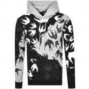 Product Image for MCQ Alexander McQueen Swallow Hoodie Black