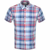 Product Image for Barbour Linen Short Sleeved Shirt Blue