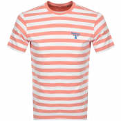 Product Image for Barbour Beacon Bow Stripe T Shirt Pink