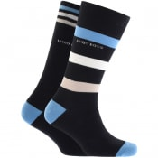 Product Image for BOSS Two Pack Socks Navy