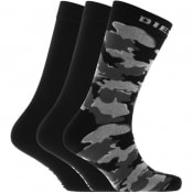 Product Image for Diesel RAY Three Pack Socks Black