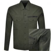 Product Image for BOSS Lovel Zip Overshirt Jacket Green