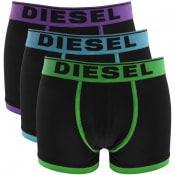 Product Image for Diesel Underwear Damien 3 Pack Boxer Trunks Black