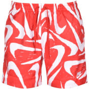 Product Image for Nike Flow Logo Swim Shorts Red