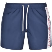 Product Image for Emporio Armani Logo Swim Shorts Navy