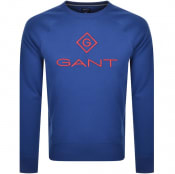 Product Image for Gant Crew Neck Lock Up Sweatshirt Blue