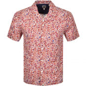Product Image for Pretty Green Concha Short Sleeve Shirt Orange