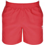Product Image for adidas Originals 3 Stripes Swim Shorts Pink