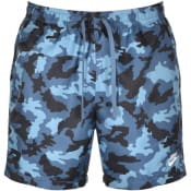 Product Image for Nike Flow Camo Logo Swim Shorts Blue
