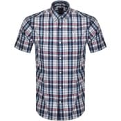 Product Image for Gant Indigo Check Short Sleeved Shirt White
