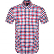 Product Image for Gant Multi Gingham Check Short Sleeved Shirt Red