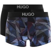 Product Image for HUGO Two Pack Brother Boxer Trunks Black