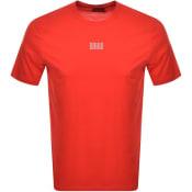 Product Image for HUGO Dumed203 Crew Neck Short Sleeve T Shirt Red