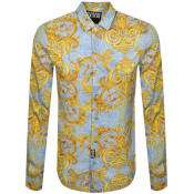 Product Image for Versace Jeans Couture Long Sleeve Shirt Blue