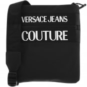 Product Image for Versace Jeans Couture Logo Shoulder Bag Black