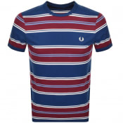 Product Image for Fred Perry Stripe T Shirt Blue