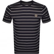 Product Image for Fred Perry Fine Stripe T Shirt Navy