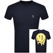 Product Image for Luke 1977 X Smiley Smudgey T Shirt Navy