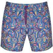 Product Image for Pretty Green Festival Paisley Swim Shorts Blue