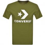 Product Image for Converse Star Chevron Logo T Shirt Khaki