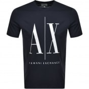 Product Image for Armani Exchange Crew Neck Logo T Shirt Navy