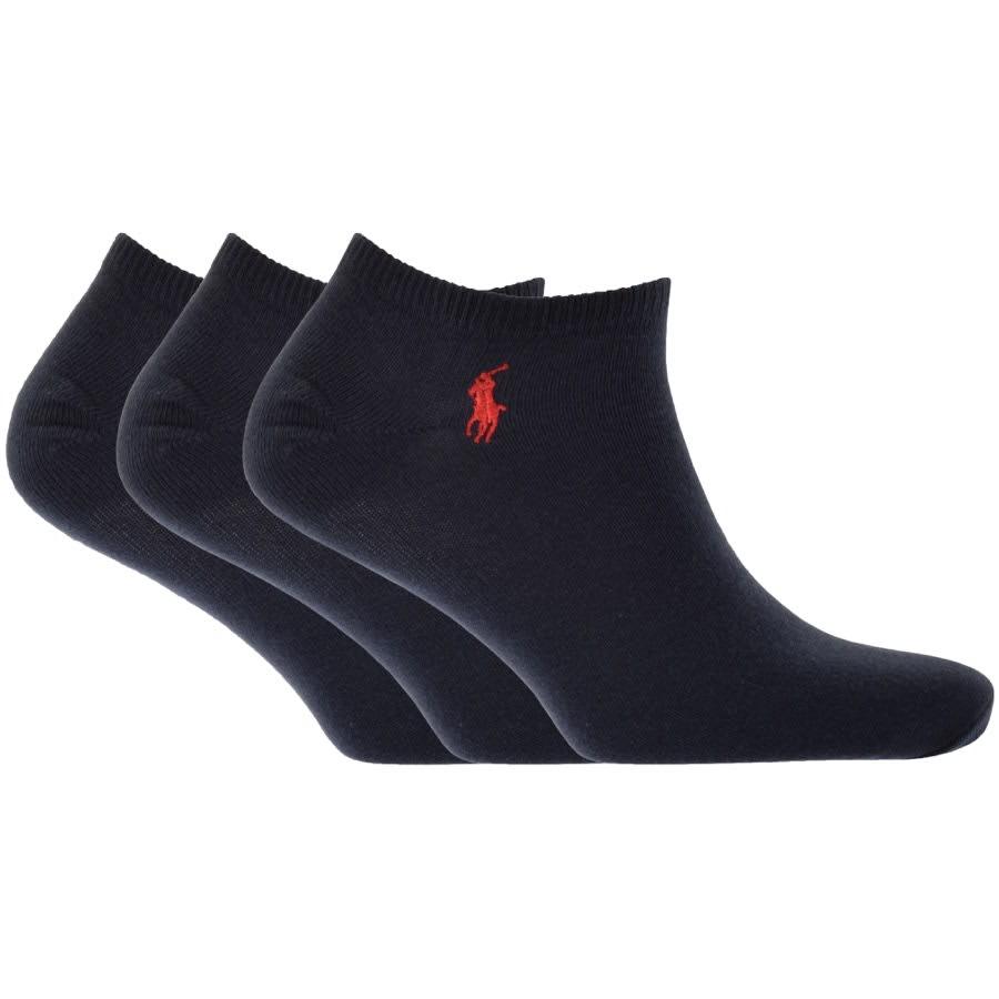 Ralph Lauren 3 Pack Trainer Socks Navy