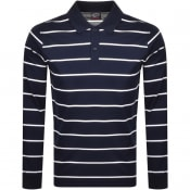 Product Image for Paul And Shark Long Sleeved Polo T Shirt Navy