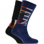 Product Image for Levis Tall Logo 2 Pack Socks Blue