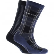 Product Image for Levis Check 2 Pack Socks Navy