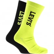 Product Image for Levis Regular Cut 2 Pack Socks Yellow