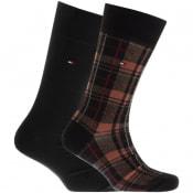 Product Image for Tommy Hilfiger 2 Pack Check Socks Black