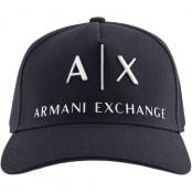 Product Image for Armani Exchange logo Baseball Cap Navy