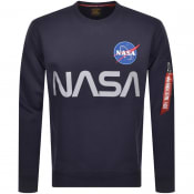 Product Image for Alpha Industries Nasa Reflective Sweatshirt Navy