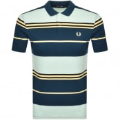 Product Image for Fred Perry Striped Polo T Shirt Green