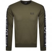 Product Image for EA7 Emporio Armani Taped Logo Sweatshirt Green