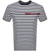 Product Image for Tommy Jeans Logo Stripe T Shirt Navy
