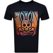 Product Image for Psycho Bunny Strom Logo T Shirt Navy