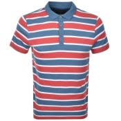 Product Image for Michael Kors Towel Stripe Polo T Shirt Red