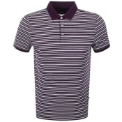 Product Image for Michael Kors Jacquard Stripe Polo T Shirt Purple
