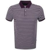 Product Image for Michael Kors Jacquard Stripe Polo T Shirt Purple