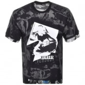 Product Image for Versus Versace Printed Mesh T Shirt Black