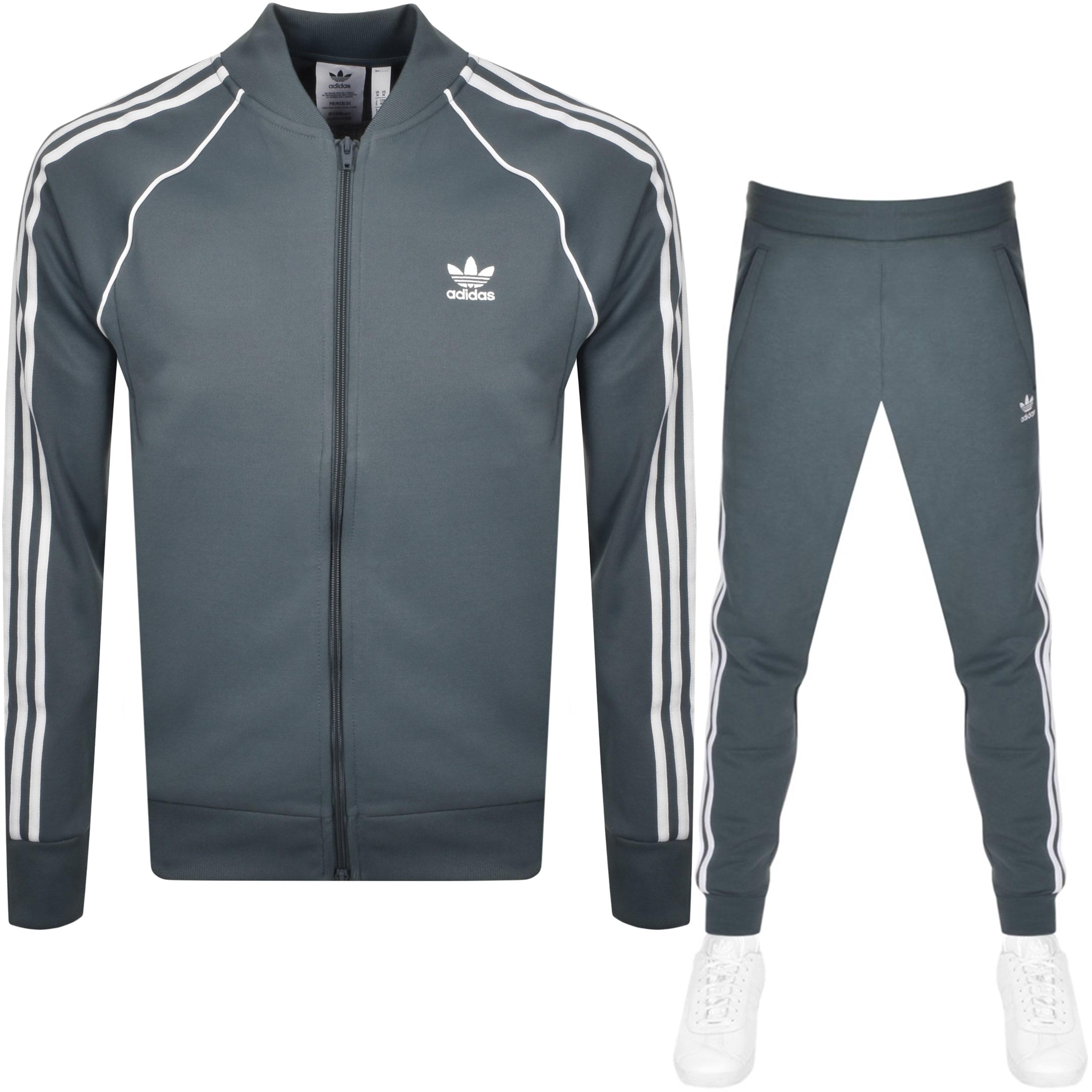 observación Tumba capa  adidas Originals Superstar Tracksuit Grey   Mainline Menswear Sweden