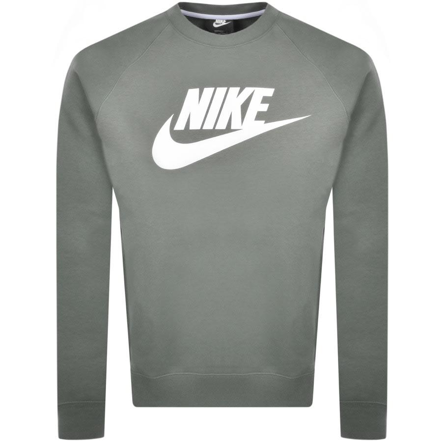 puerta impulso boleto  Nike Crew Neck Modern Sweatshirt Green | Mainline Menswear Sweden