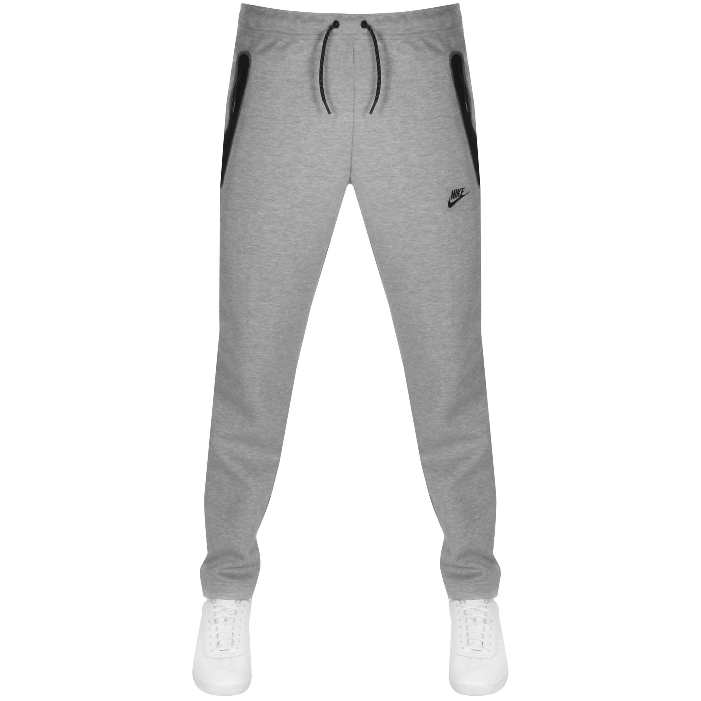 Nike Tech Fleece Logo Jogging Bottoms Grey Mainline Menswear Sweden