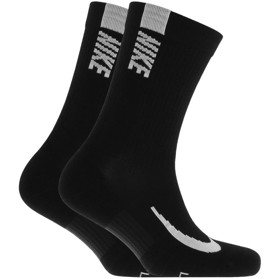 Importancia Crítico Grande  Nike Multiplier Crew Two Pack Socks Black | Mainline Menswear Sweden