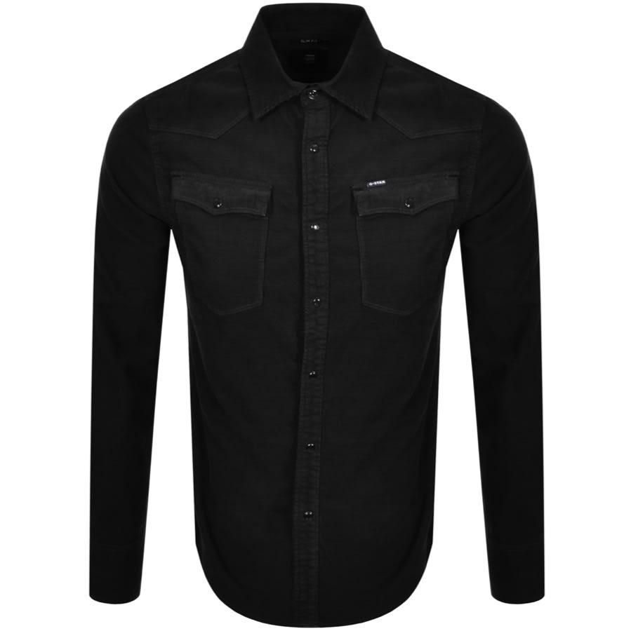 G-Star Mens 3301 Slim Shirt Black