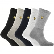 Product Image for Lyle And Scott Five Pack Socks Grey