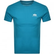 Product Image for Alpha Industries Basic Logo T Shirt Blue